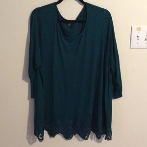 Cable and Gauge  Plus Size Green Tunic